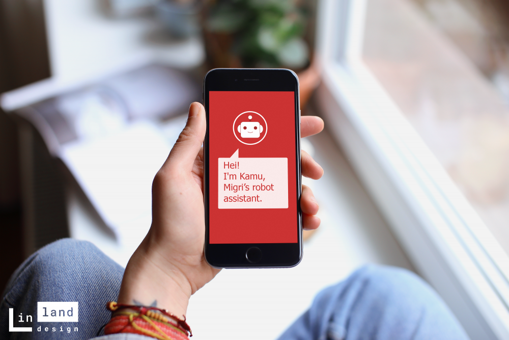 A mobile prototy of Kamu Chatbot